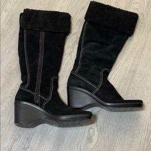 Bandolino Suede Leather wedge heel boots 9.5